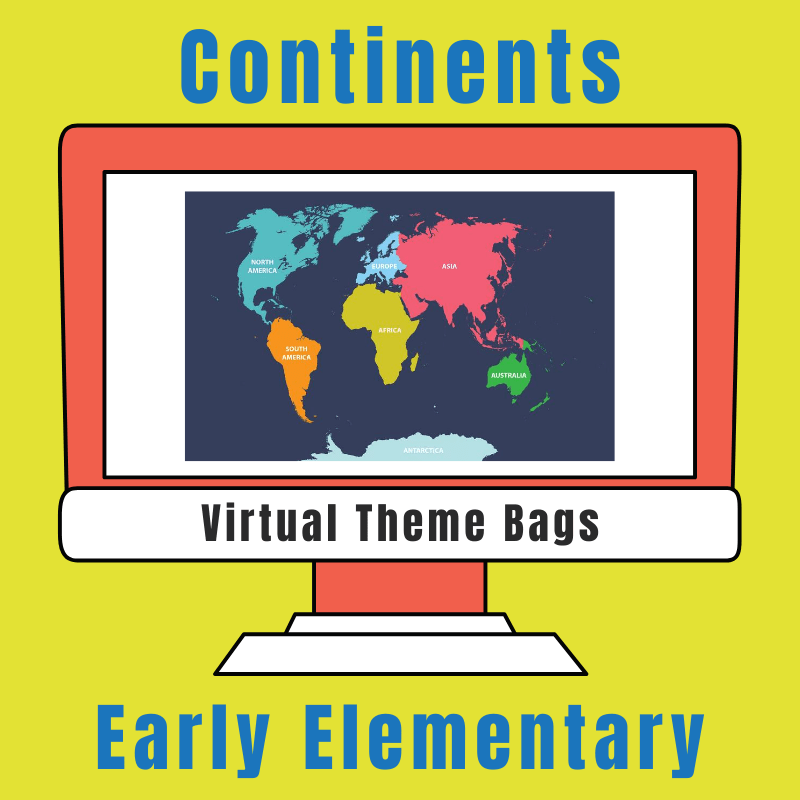 continents virtual theme bag for early elementary
