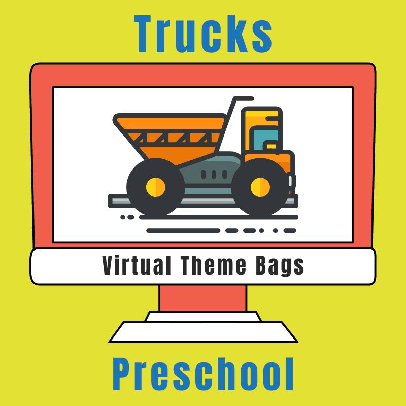 Trucks Virtual Theme bag for preschoolers