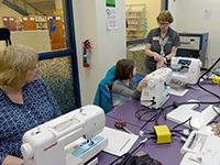 Teaching Sewing in The Hub