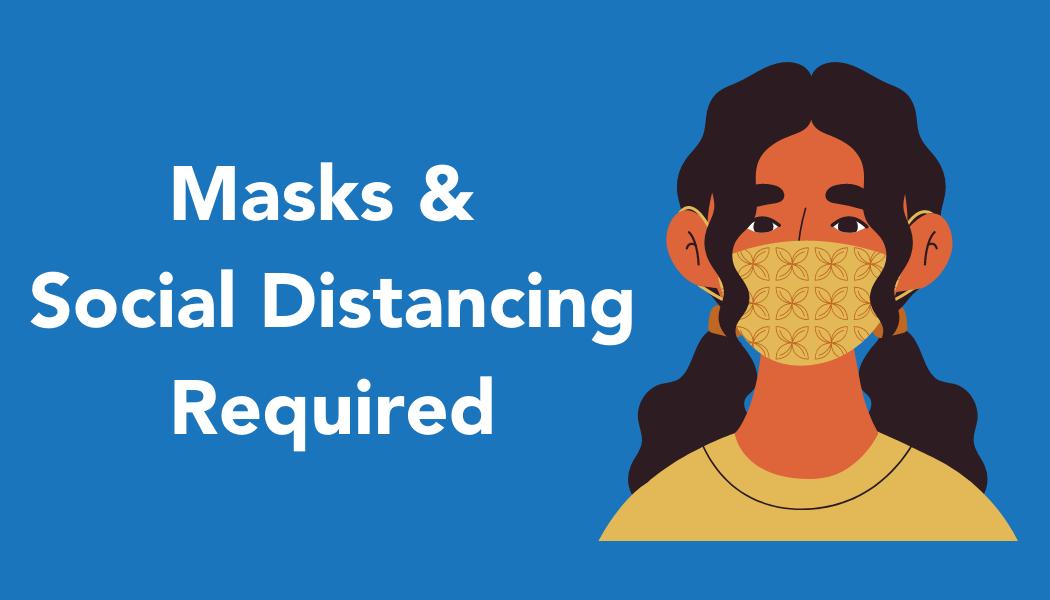 Website homepage Masks and Social Reminder