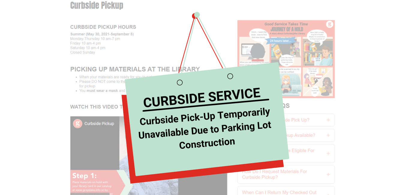Curbside Service Temporarily Unavailable